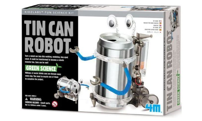 Tin Can Robot Packaging