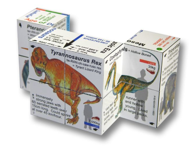Dinosaurs Cube Book - Clever!