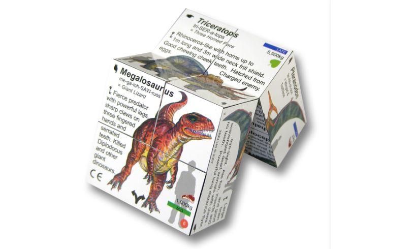Dinosaurs Cube Book