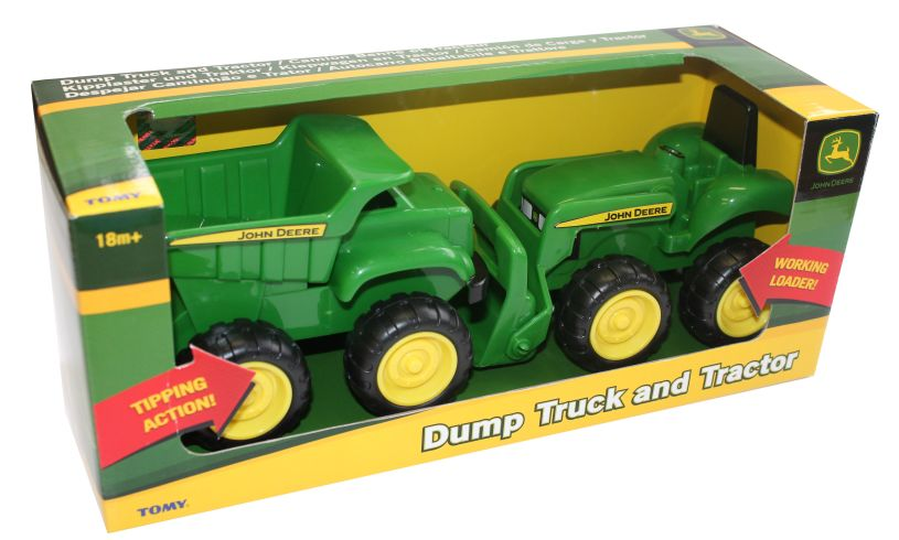 John Deere Dump Truck and Tractor Packaging