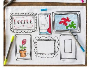 Doodle PLACEMATS - Draw & Wash Out