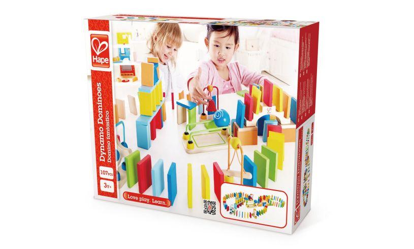 Dynamo Wooden Dominoes Packaging