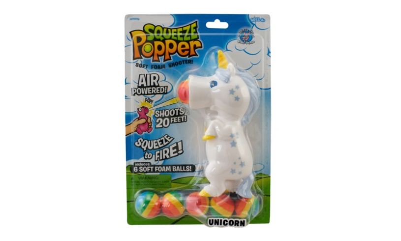 Unicorn Squeeze Popper Packaging