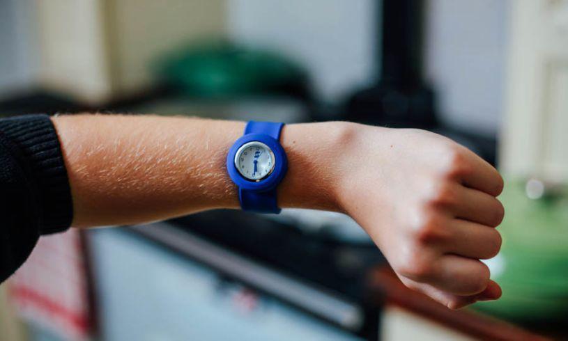 Blue Slappie Watch on arm