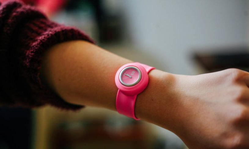 Neon Pink Slappie Watch lifestyle