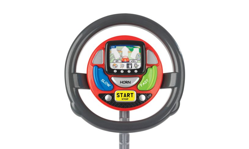 Sat Nav Steering Wheel Close Up