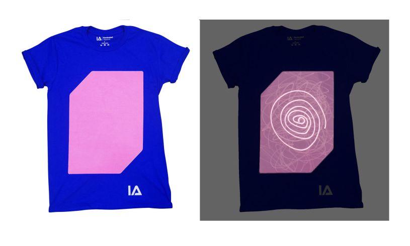Blue Interactive Glow T-Shirt in dark