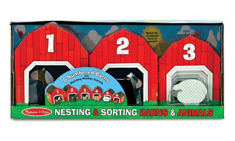 Melissa and Doug Nesting & Sorting Barns & Animals