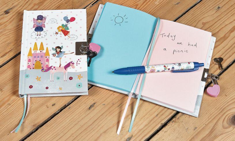 Floss and Rock Fairy Unicorn Lockable Journal