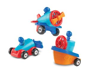 1-2-3 Build It Learning Resources Car Plane Boat
