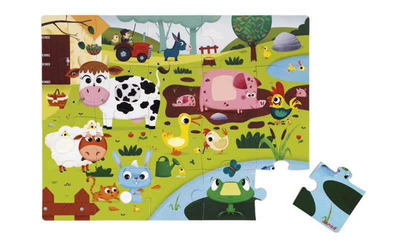 Janod Tactile Farm Animal Floor Puzzle