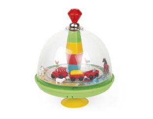 Janod Musical Farm Spinning Top