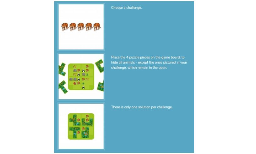 Smart Games Jungle Hide & Seek Instructions