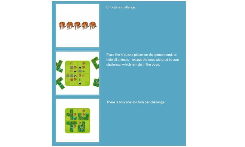 Smart Games Jungle Hide & Seek Instructions