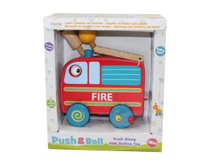 Fiesta Crafts Fire Engine Push n Roll