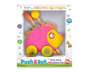Fiesta Crafts Hedgehog Push 'n' Roll