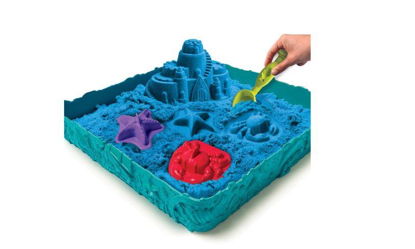 Kinetic Sand Sandcastle Set Spinmaster Blue