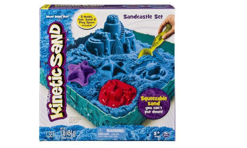 Kinetic Sand Castle Set Blue Box