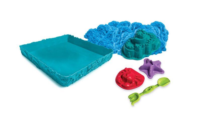 Kinetic Sand Sandcastle Set Blue Contents