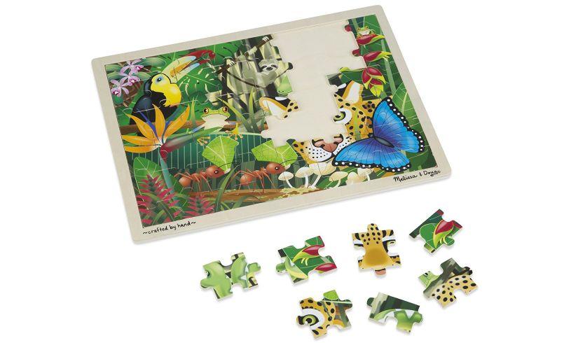 Wooden Rainforest Jigsaw Detail