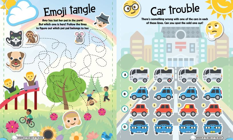 Emoji Puzzles Book Inside