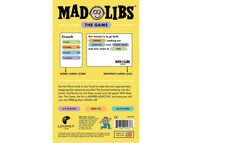 Mad Libs: the Game Detail