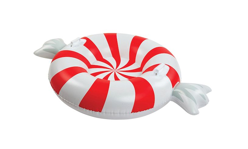 Peppermint Twist Big Snow Tube out of box