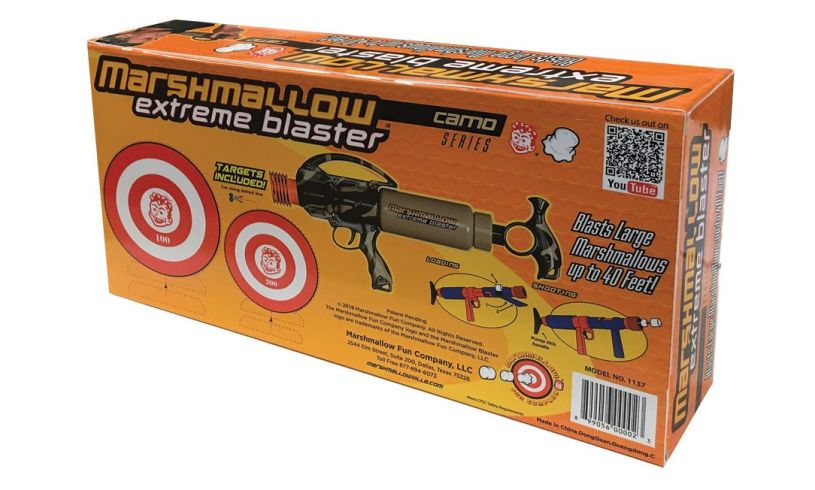 Extreme Marshmallow Blaster' back of box