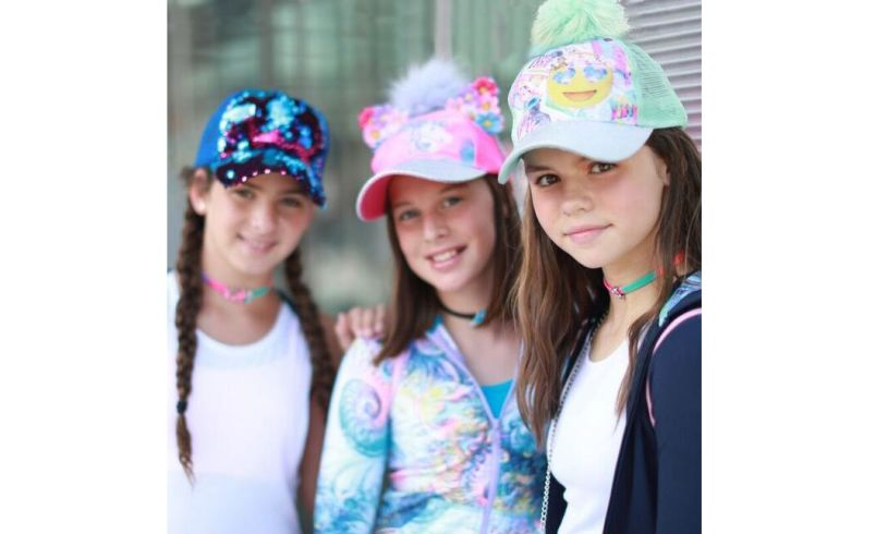 Unicorn Pom-pom Baseball Cap 4-7 Lifestyle