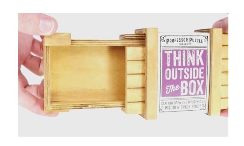 Think outside the box - solve the puzzle open