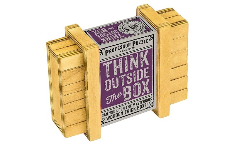 Think outside the box - solve the puzzle