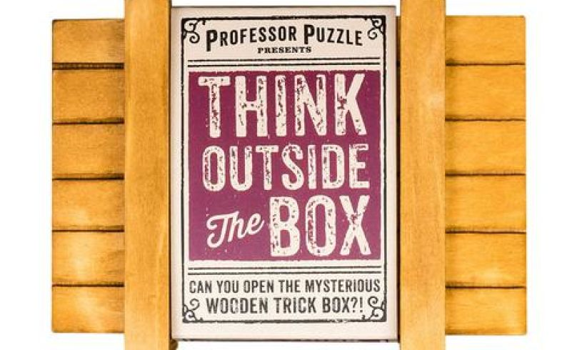 Think outside the box - solve the puzzle closed