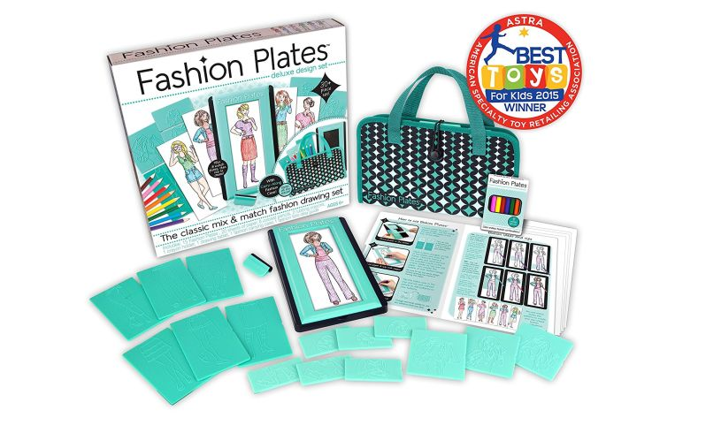 Fashion Plates Deluxe Design Set displayed