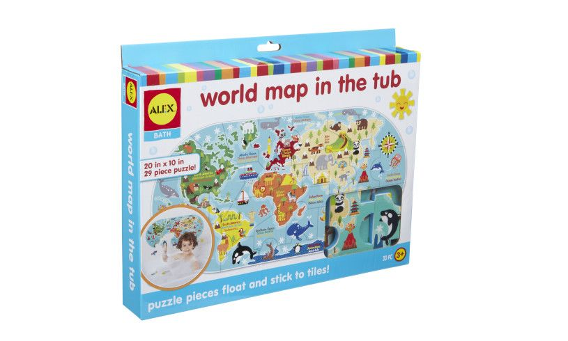 World Map In The Tub Box
