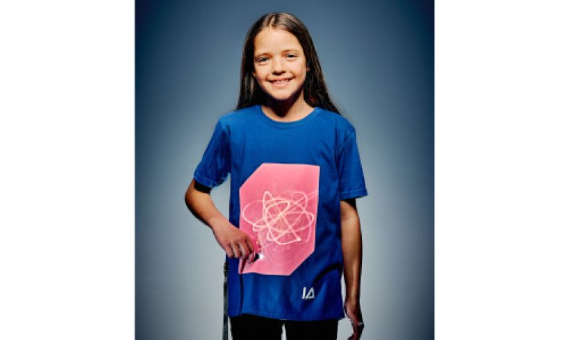 Blue Interactive Glow T-Shirt