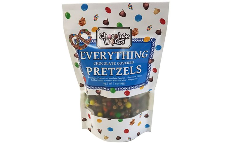 Everything Covered Chocolate Pretzels