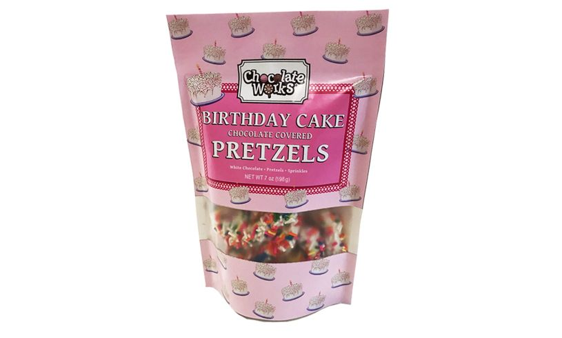 Birthday Cake Chocolate Pretzels Bag