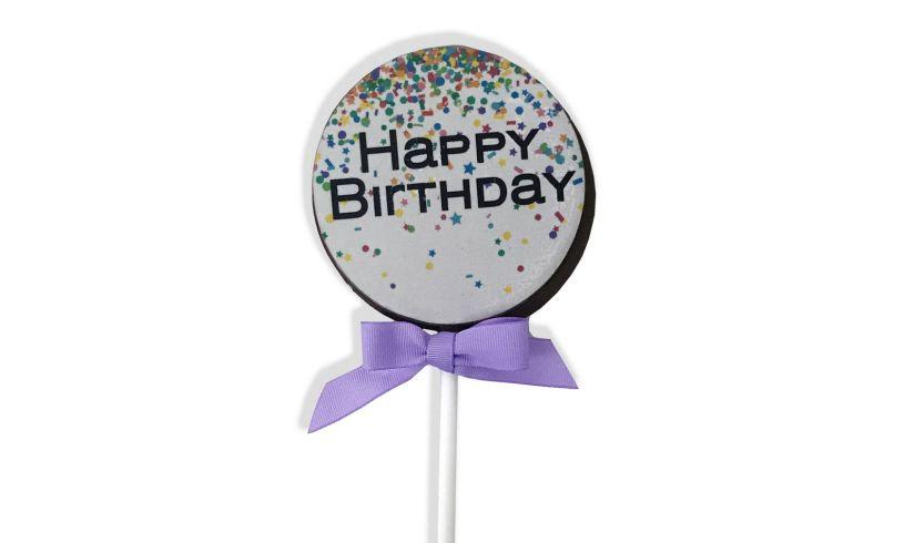 JUMBO Chocolate Birthday Lollipop