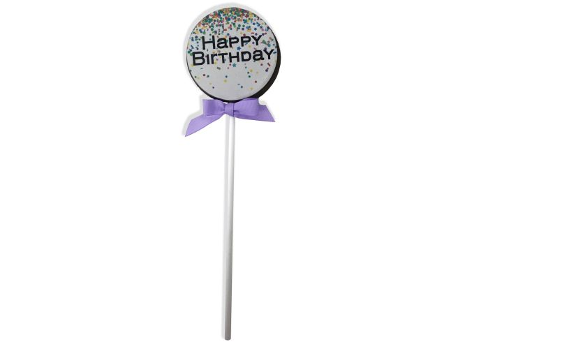 JUMBO Chocolate Birthday Lollipop yum