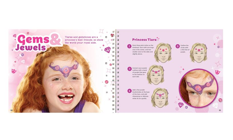 Glitter Face Painting - Color, Sparkle and Shine' tiara