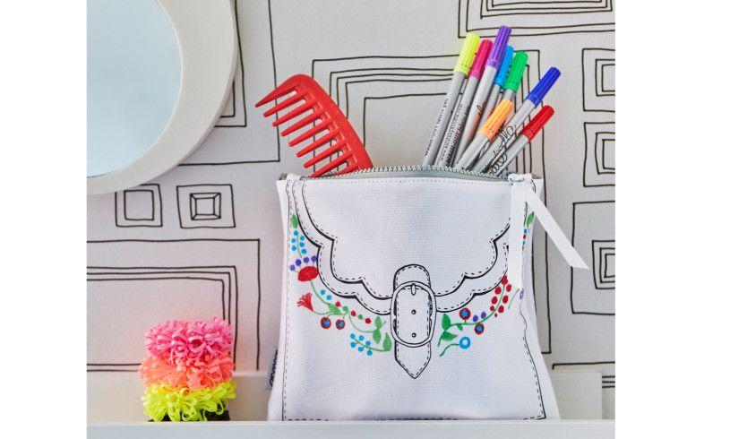 Eat Sleep Doodle Designer Bag