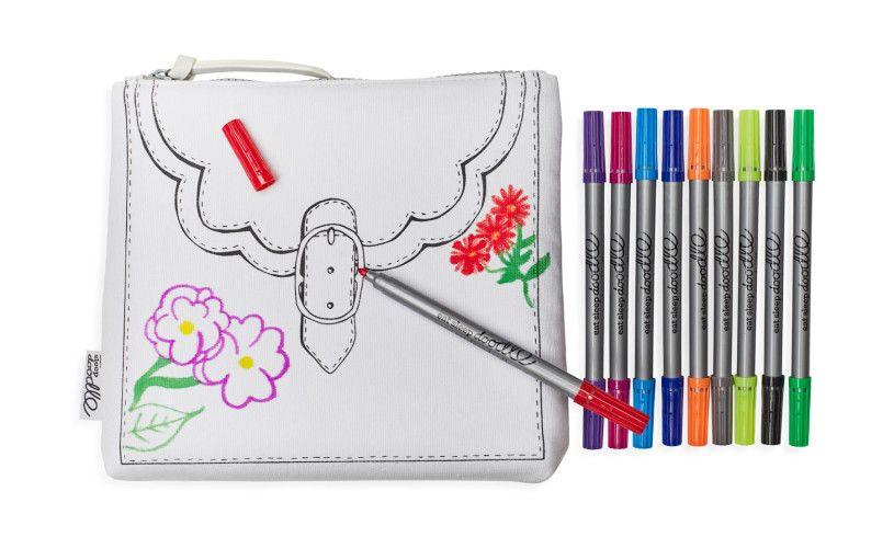 Eat Sleep Doodle Designer Bag Markers