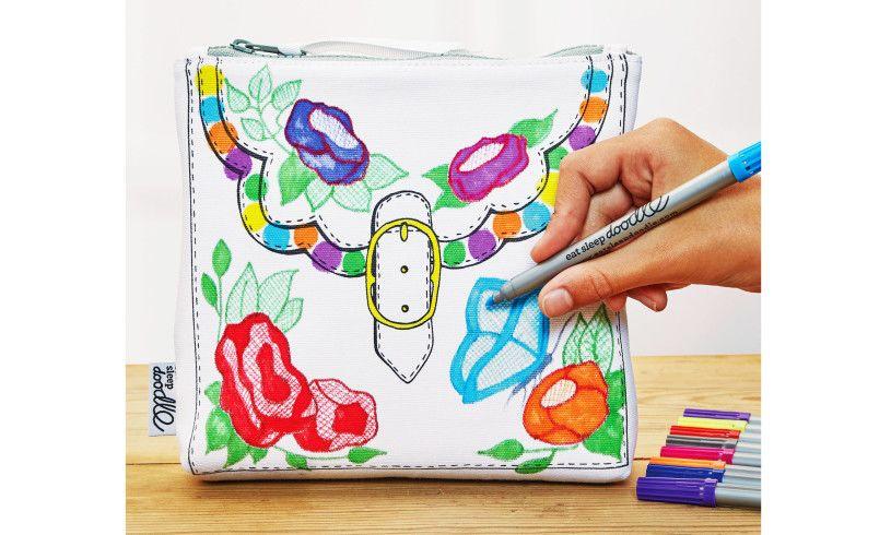 Eat Sleep Doodle Designer Bag Coloring