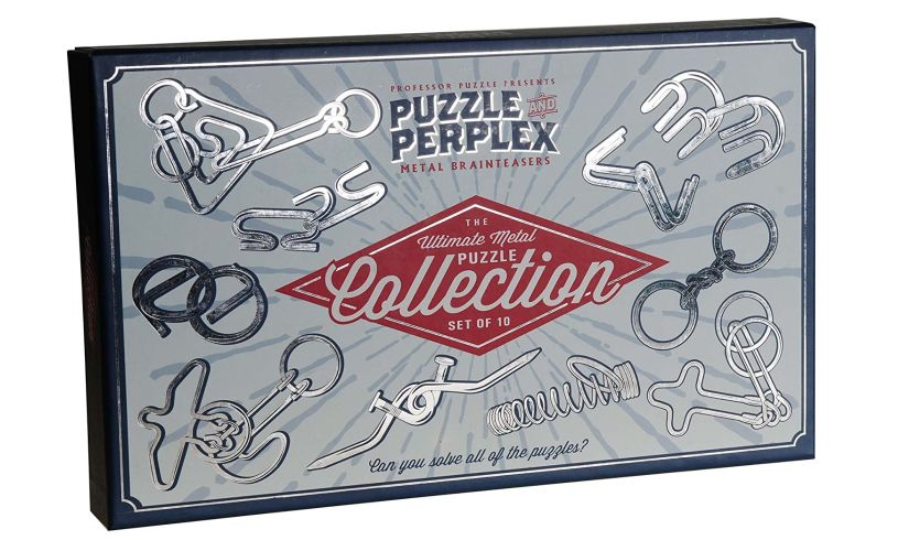 Puzzle and Perplex Collection of Metal Brainteasers box