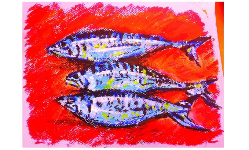 Metallic Paint Sticks Fish
