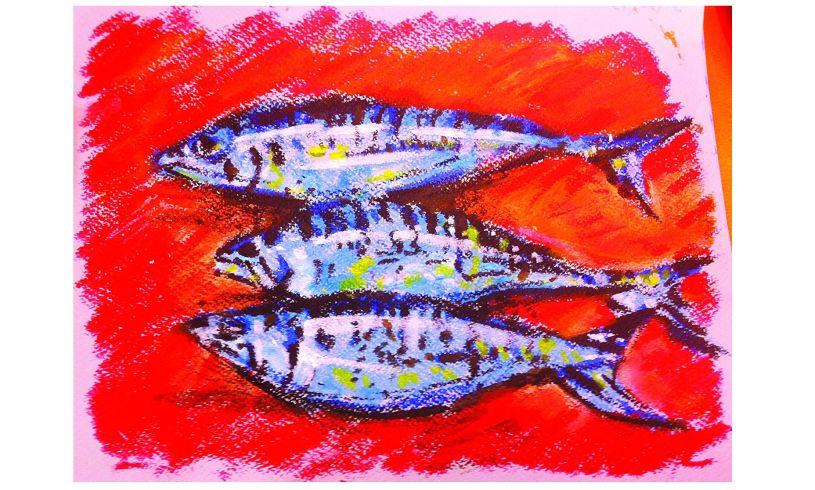 Metallic Paint Sticks Fish