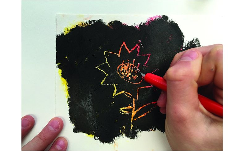 Metallic Paint Sticks Scratch