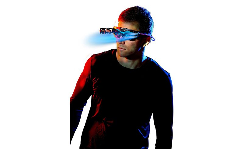 wearing the Night Mission Goggles