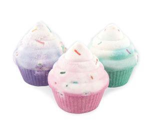 cupcake scented bath bomb gift set