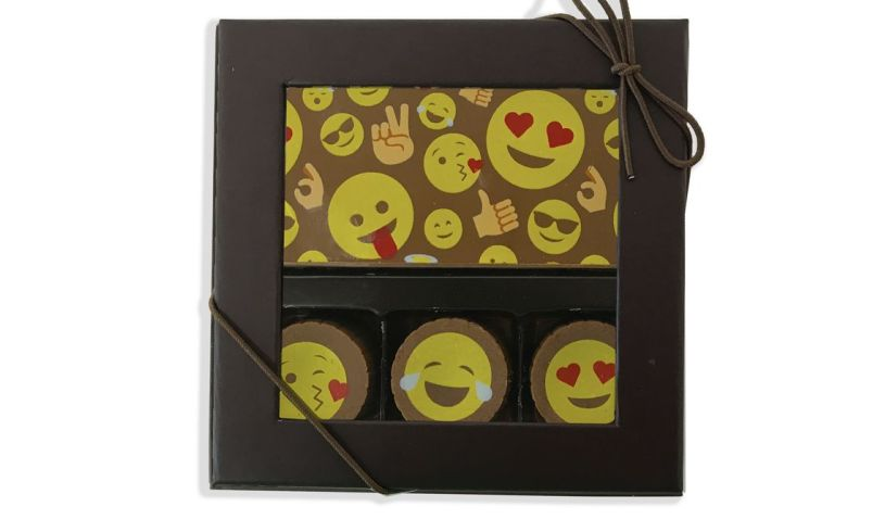Truffle & Chocolate Card Box - Emoji